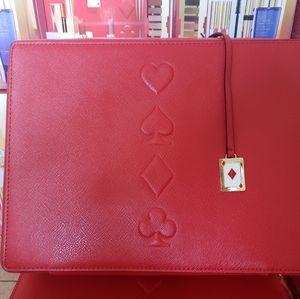 Estee Lauder Red Train Case 2019- Hearts,Clubs,Dia